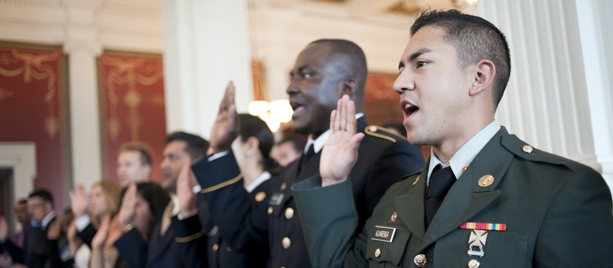 Naturalization through military service